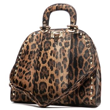 Leopard Faux Leather Tote - www.shophcw.com