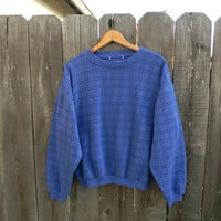 1980s // royal blue pullover sweatshirt