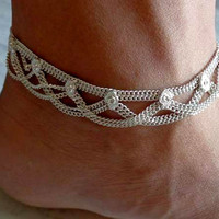 anklet,indian anklet,foot chain,gypsy foot jewelry,bellydance jewelry,slave anklet,ankle bracelet,chain anklet,ethnic indian anklet