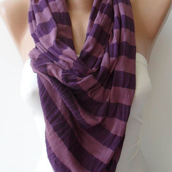 Purple Scarf - Combed Cotton Fabric for Summer...