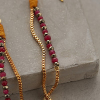 Dotted Plains Drop Earrings by Shashi