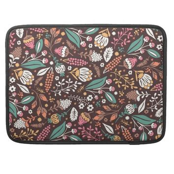 Pretty Vintage Floral Pattern Macbook Pro Sleeve