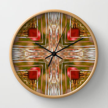 Twas The Night Before Christmas  Wall Clock by Louisa Catharine Design