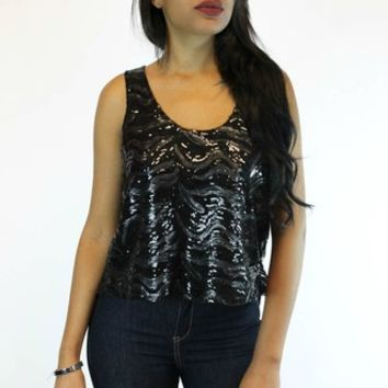 What A Mix Sequins Tank | Ark & Co.