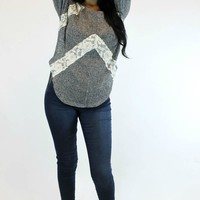 Simply Sweet Lace Sweater | Blu Pepper