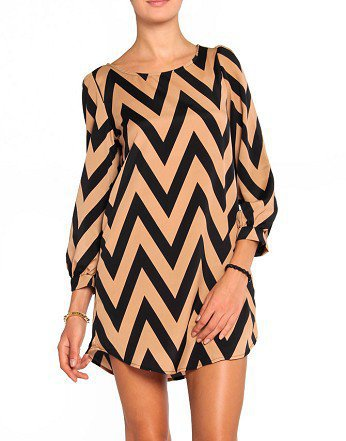 Zigzag Shift Dress