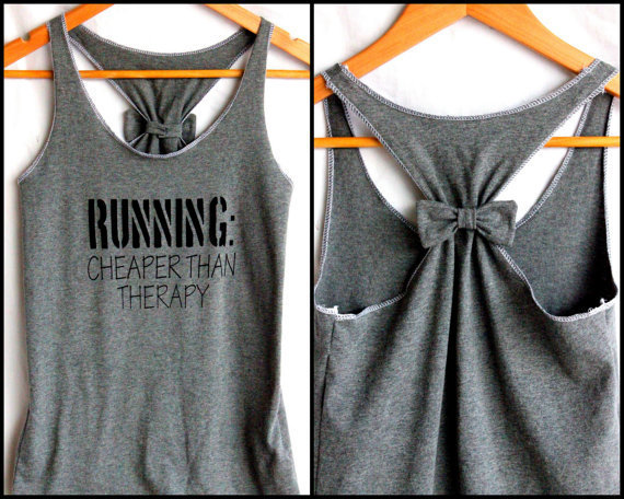 Running Workout Clothes RUNNING Cheaper than Therapy - Medium