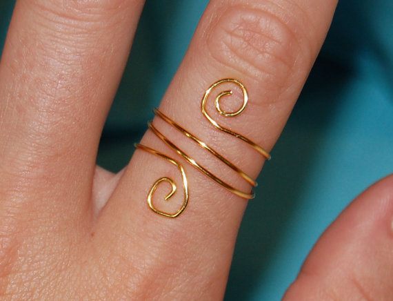 Swirl Wrap Ring