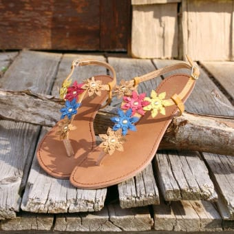 Lemon Tea Sandals, Sweet Country Inspired Shoes