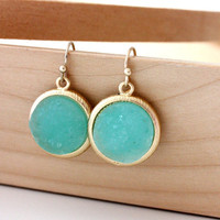 Mint color earrings