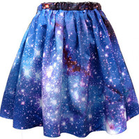 Large Magellanic Cloud Skirt | Shadowplaynyc | Space inspired clothing in nebula and galaxy prints