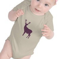 Winter purple violet deer silhouette Baby clothing