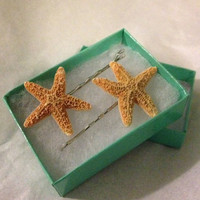 Starfish Bobby Pins- Pair