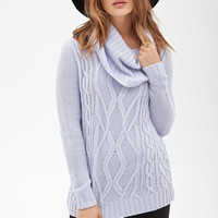 FOREVER 21 Cowl Neck Fisherman Sweater