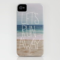 Let&#x27;s Run Away III iPhone Case by Leah Flores | Society6