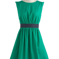 Emily and Fin Too Much Fun Dress in Green | Mod Retro Vintage Dresses | ModCloth.com