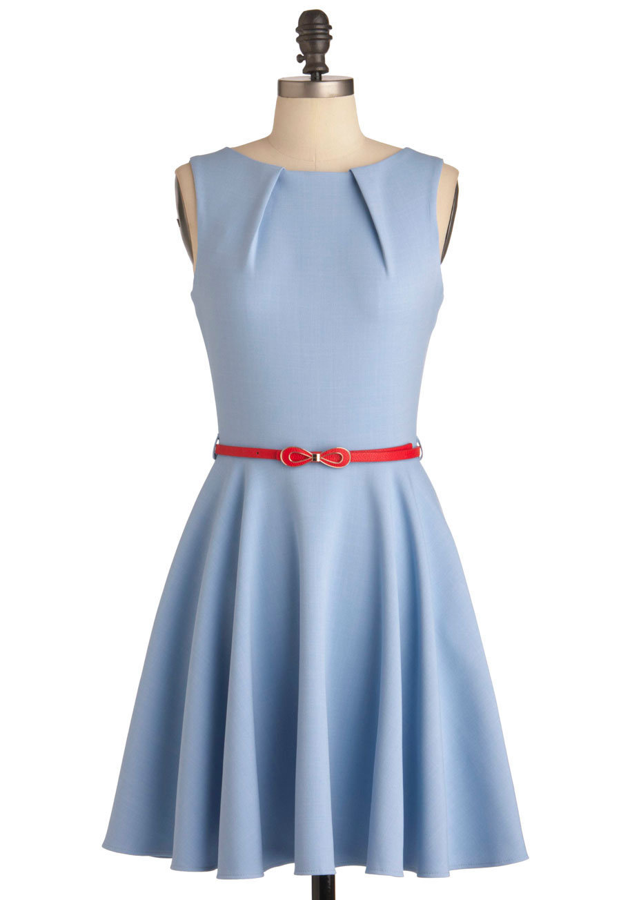 Luck Be a Lady Dress in Powder Blue | Mod Retro Vintage Dresses | ModCloth.com