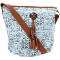 Lucky Brand Printed Fabric Bucket Crossbody HKRU1345 Cross Body - designer shoes, handbags, jewelry, watches, and fashion accessories | endless.com