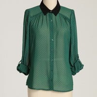 kensington button up blouse at ShopRuche.com