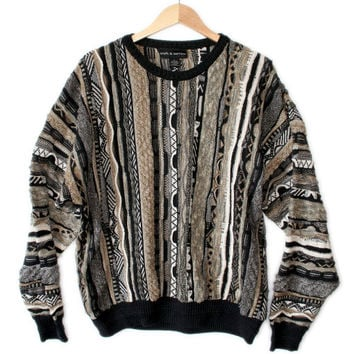 Black & Tans Textured Multicolored Cosby Ugly Sweater
