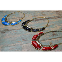 Falling For You Colorful Statement Necklaces