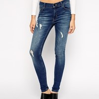 Just Female Storm High Waist Jeans With Distressing