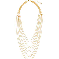 H&M - Multistrand Necklace - Gold - Ladies
