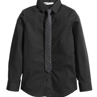 H&M - Shirt and Tie