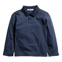 H&M - Long-sleeved Polo Shirt