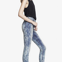 HIGH WAISTED DESTROYED JEAN LEGGING from EXPRESS