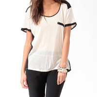 Longline Contrast Tee