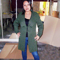 Peruvian Design Alpaca Wool Blazer Style Cardigan for Women.