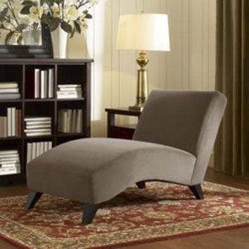 Bella Taupe/Camel Chaise | Overstock.com