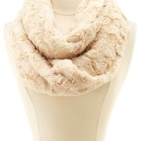 Faux Fur Infinity Scarf by Charlotte Russe - Natural