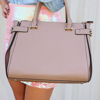 Uptown Girl Purse: Taupe          - One