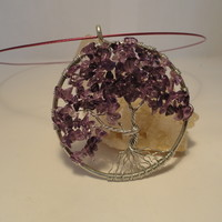 Amethyst Gemstone Tree of Life Pendant / by The Wired Fox on Zibbet