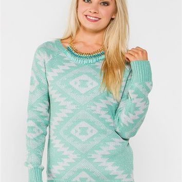 Aztec Lurex Sweater