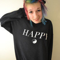 STAY GREAT APPAREL  — Happy (Crewneck Sweatshirt)