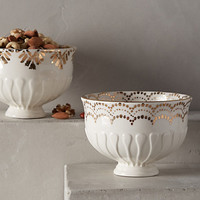 Gilded Thistle Nut Bowl