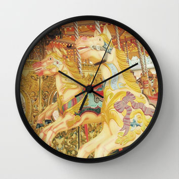 Carousel Horse : Fond Memories of Childhood  Wall Clock by Lilkiddies