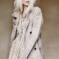 Free People Womens Textures in Plaid Jacket - Ivory