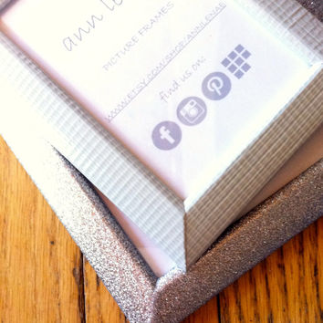 Hint of Grey Faux Texture Picture Frame   Glow in the Dark Duct Tape Covered Photo Frame