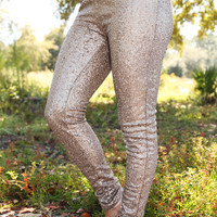 Sparkle All Day Pants: Gold