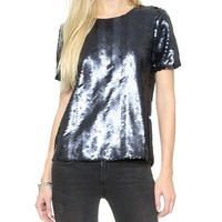 JOA Sequin Fete Top
