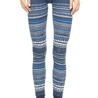 Splendid Bowery Street Printed Thermal Leggings