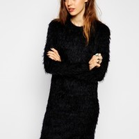 ASOS Fluffy Sweater Dress with Long Sleeves