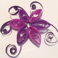 Quilling brooch, quilling jewelry, quilling pin, Christmas gift, purple brooch, unique brooch, quilling, paper jewelry, paper filigree,