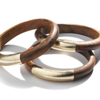Leather Wrapped Bangles | TOMS
