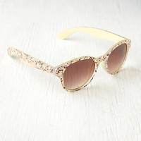 Free People Floral Print Sunglasses
