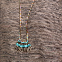 Birds of a Feather Necklace {Blue}